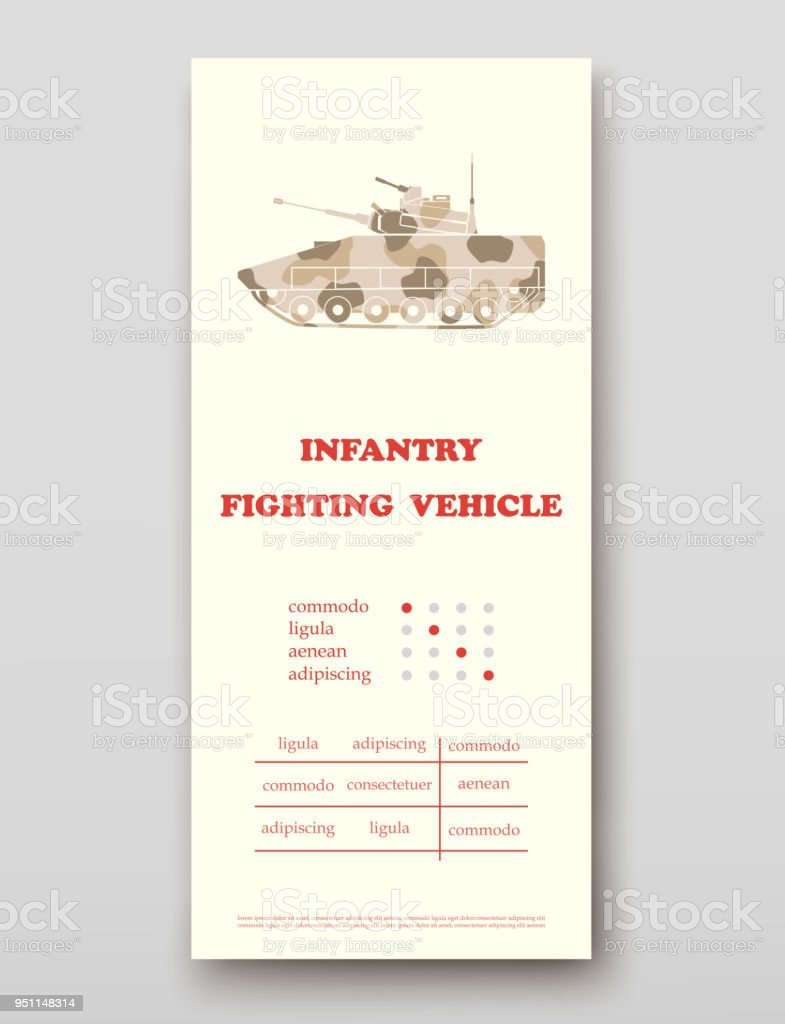 infantry fighting vehicle leaflet cover presentation abstract layout, Presentation Abstract Template, Presentation templates