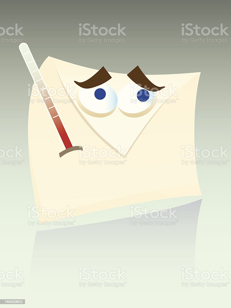 Infected email royalty-free stock vector art