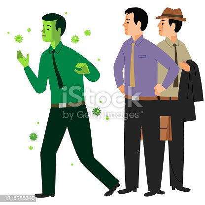 istock Infected Person 1215288340