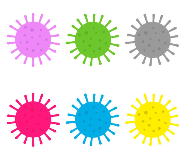 Infection bacteria and pandemic virusisolated on white background Infection bacteria and pandemic virusisolated on white background pollen stock illustrations