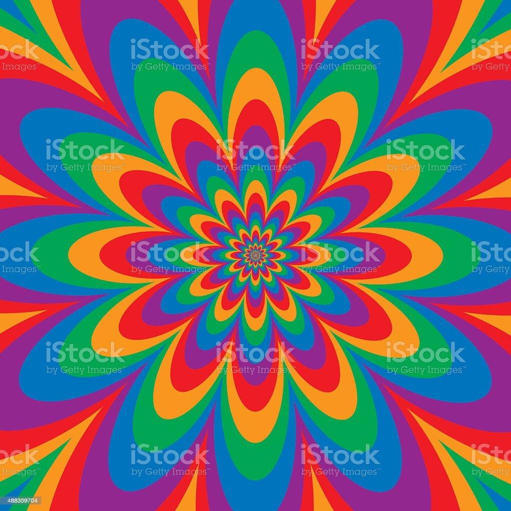 Infinite espectro de flores - ilustração de arte em vetor