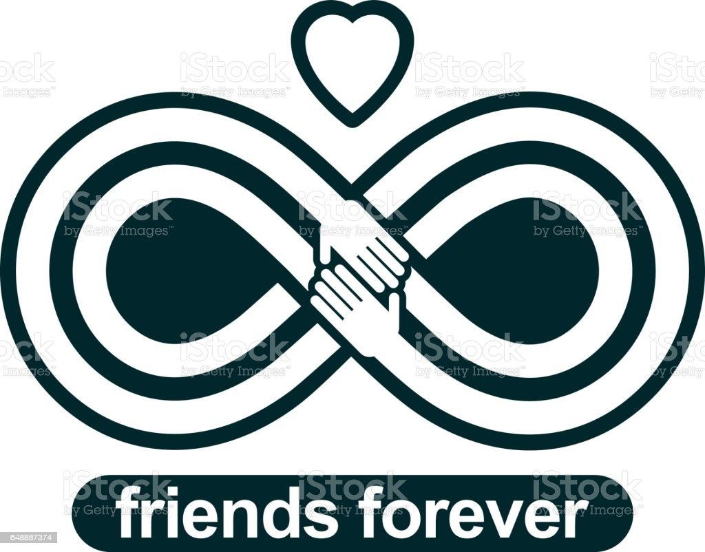 Infinite friendship friends forever special vector logo combined infinite friendship friends forever special vector logo combined with two symbols of eternity loop biocorpaavc Images