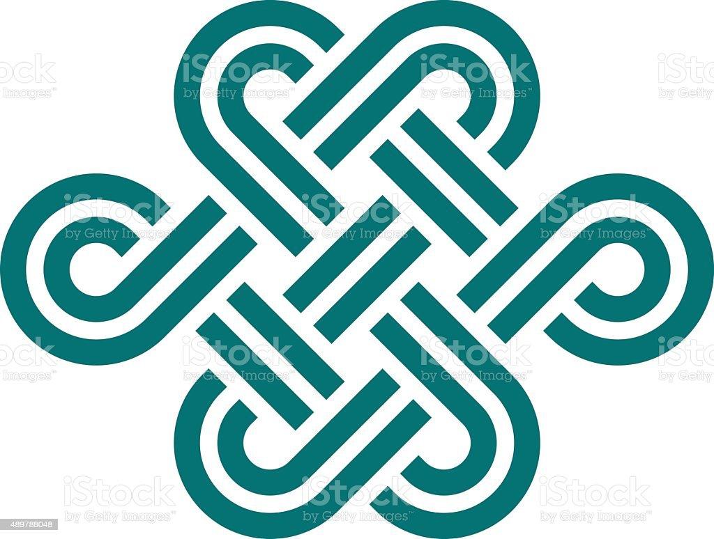 Infinite knot symbol on white vector art illustration