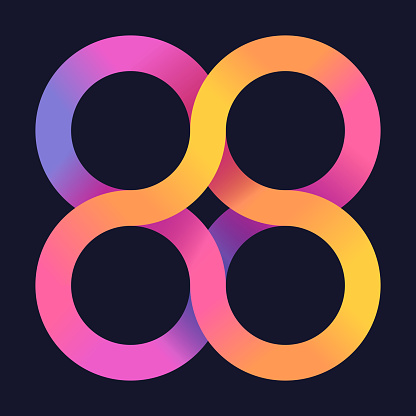 Infinite Loops Abstract Design Element