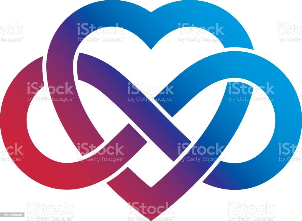 Infinite Love Concept Vector Symbol Created With Infinity Loop Sign