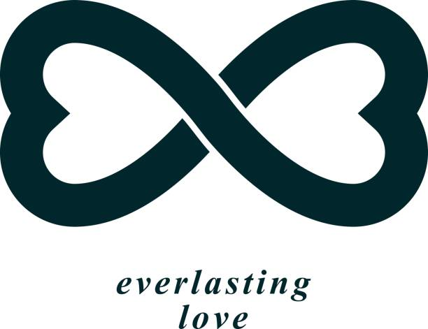Royalty Free Everlasting Love Concept Vector Symbol Created With
