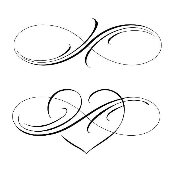 infinite love Infinity love icon vector valentines day symbol eternity stock illustrations