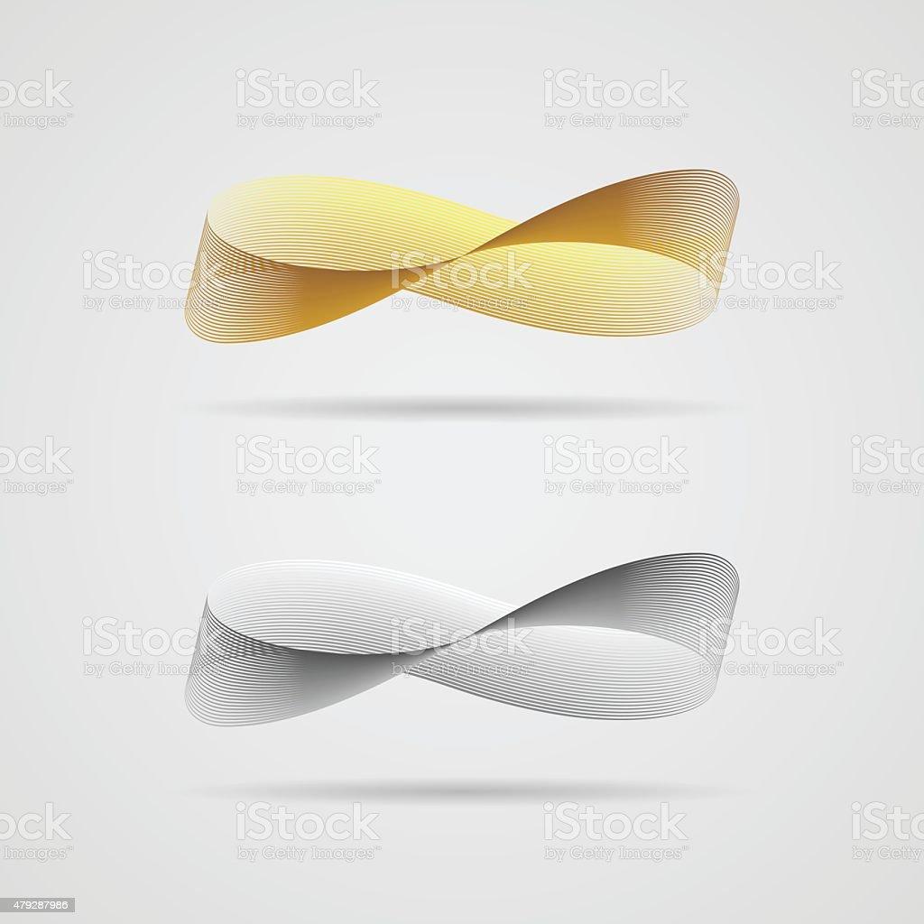 Infinite ribbon vector art illustration
