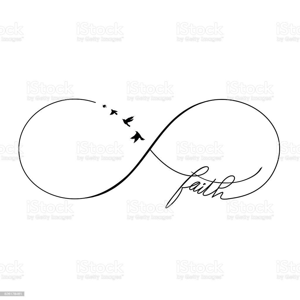Infinity Faith vector art illustration