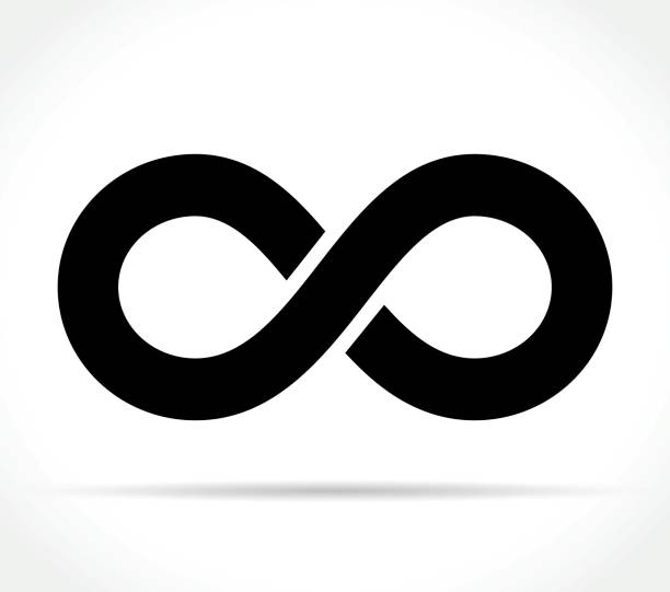 infinity icon on white background Illustration of infinity icon on white background eternity stock illustrations