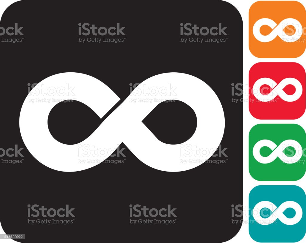 Infinity icon set royalty-free infinity icon set stock vector art & more images of black and white