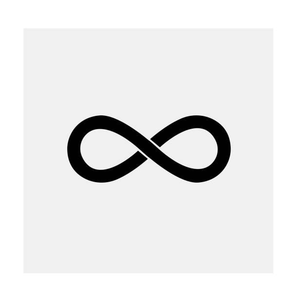 infinity icon - бесконечность stock illustrations