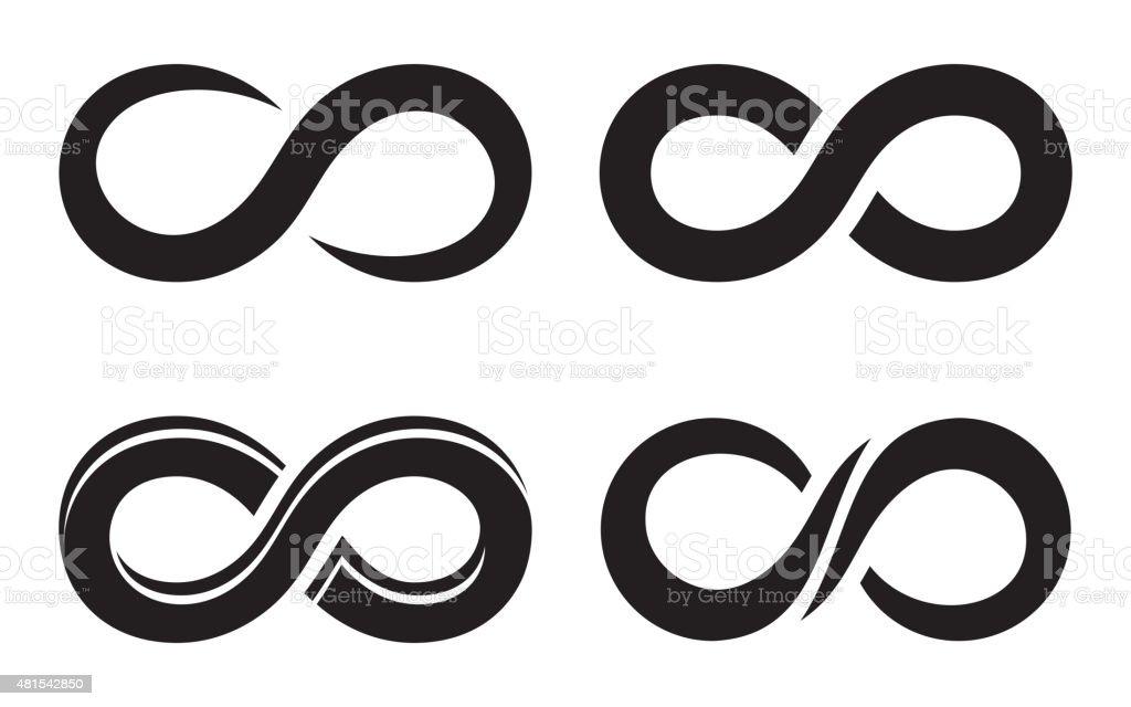 Infinity icons vector art illustration