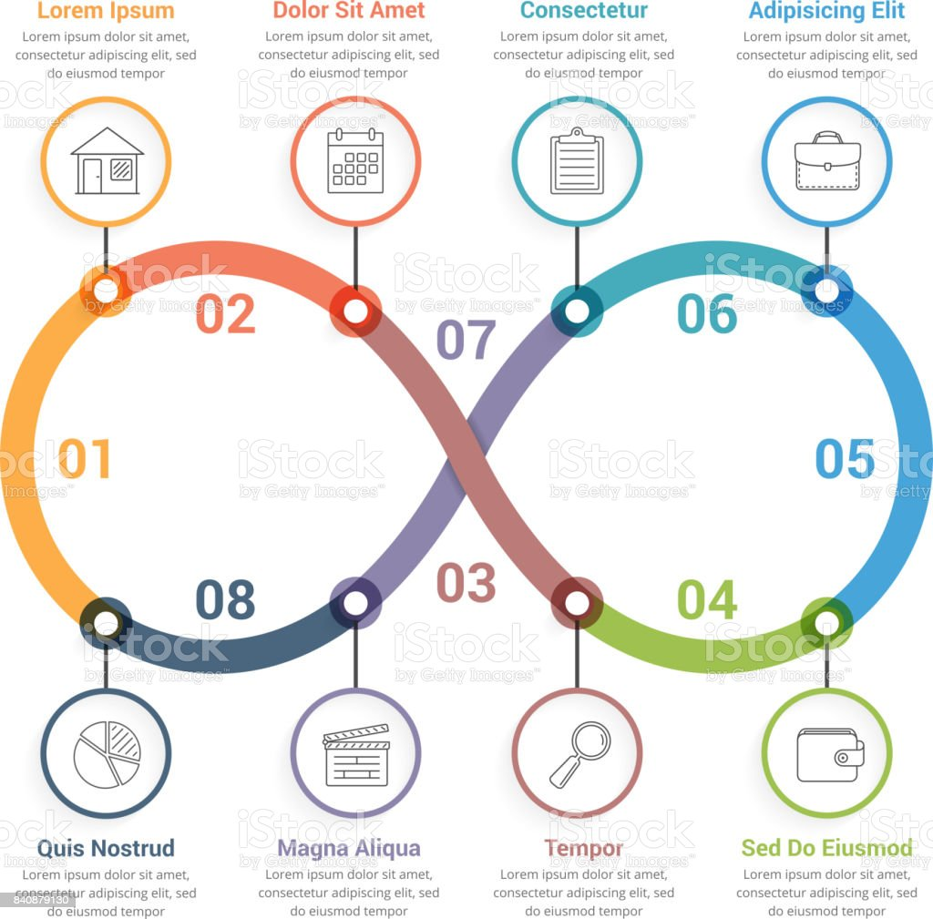 Infinity Infographics vector art illustration