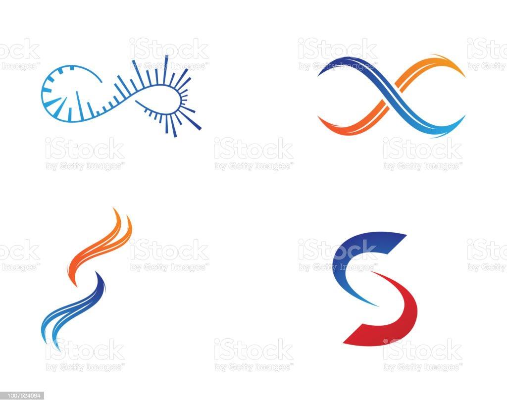 Vektorinfinitylogo Und Symbolvorlagesymbole Stock Vektor Art und ...