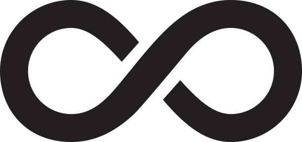 infinity logo infinity symbol design element icon eternity stock illustrations