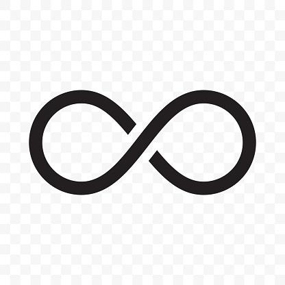 Infinity or infinite loop vector line icon