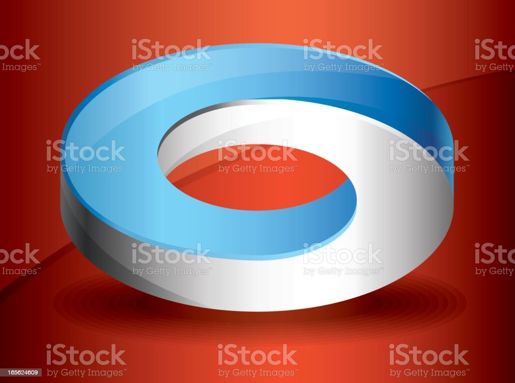 """Infinity Ring A donut-style optical illusion of an """"impossible"""" object. Circle stock vector"""