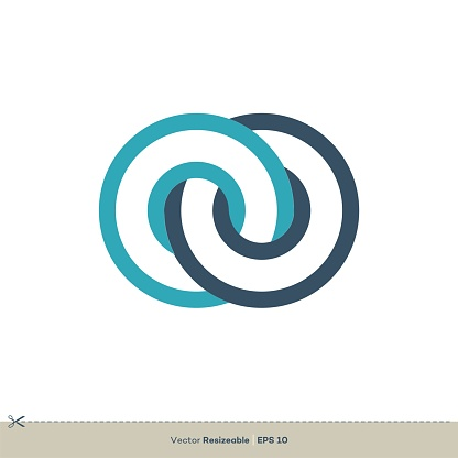 Infinity Rings Icon Vector Logo Template Illustration Design. Vector EPS 10.