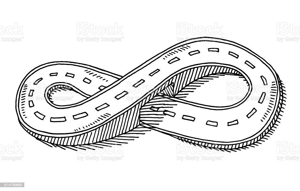 Route dessin de huit d bordement de forme cliparts - Dessin de route ...
