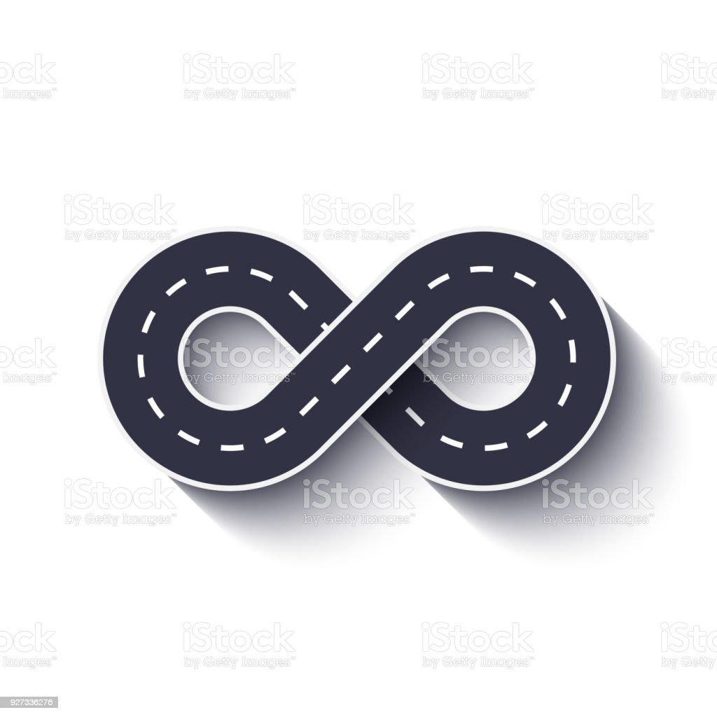 Infinity Road Icon On A White Isolated Background Stock Vector Art