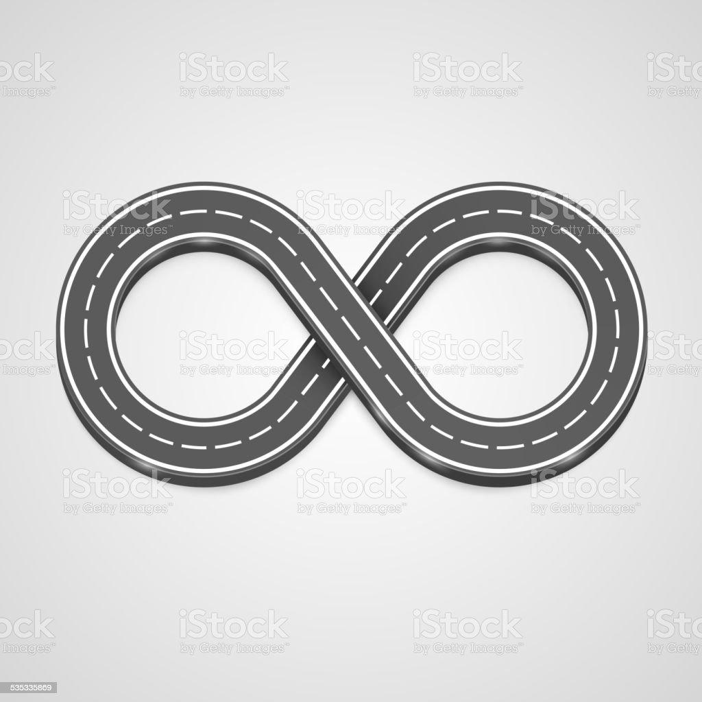 Infinity road vector background vector art illustration