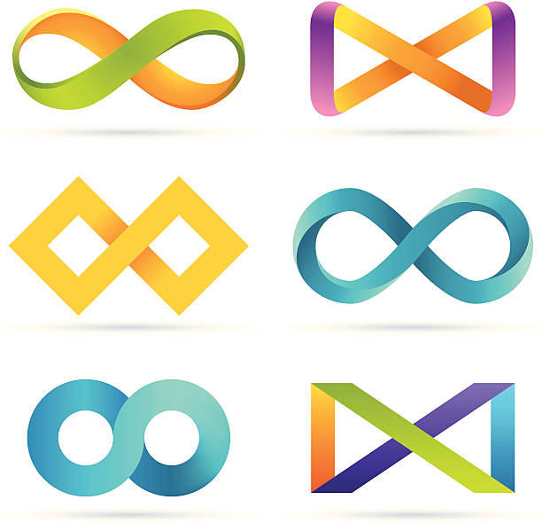 набор infinity - бесконечность stock illustrations