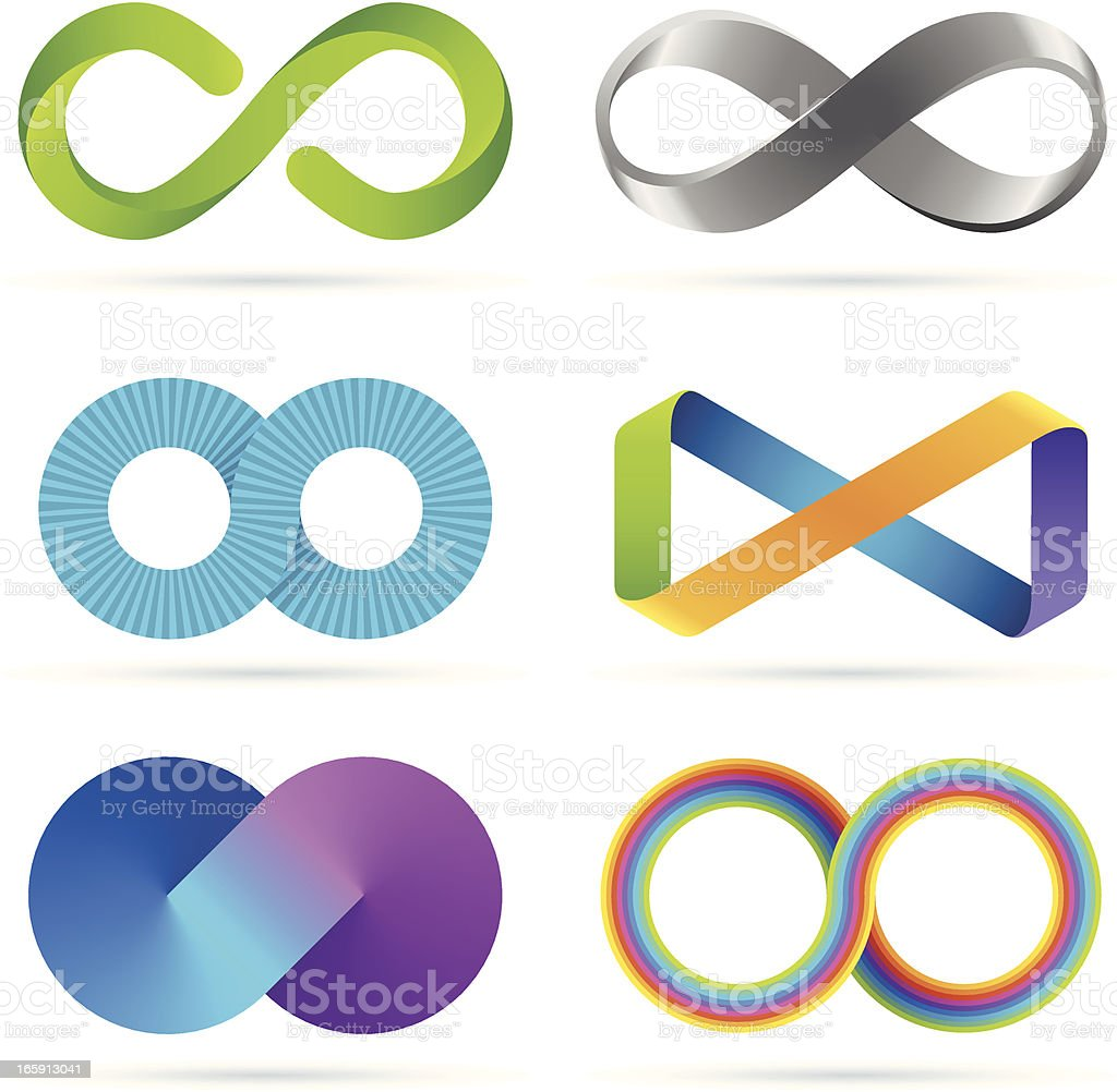 Infinity set royalty-free stock vector art
