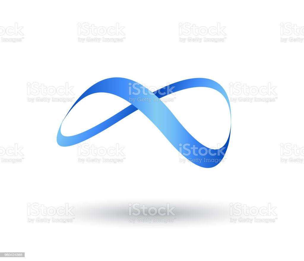infinity shape from swoosh symbol and icon Logo Template vector. vector art illustration