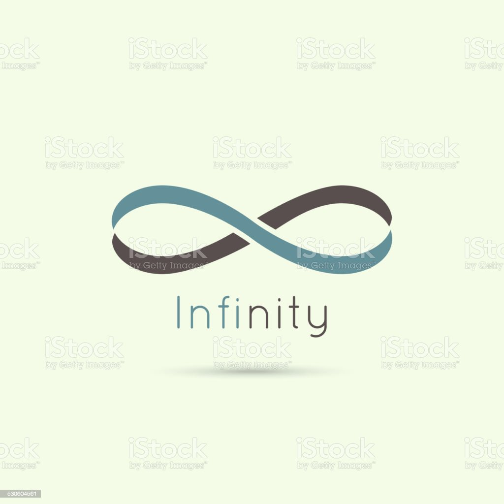Infinity sign from the colored stripes of tape. vector art illustration