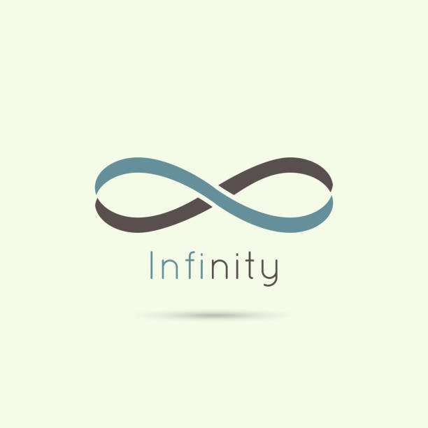 Infinity sign from the colored stripes of tape. Infinity sign from the colored stripes of tape. emblem endless. The concept of eternity.  infinity stock illustrations