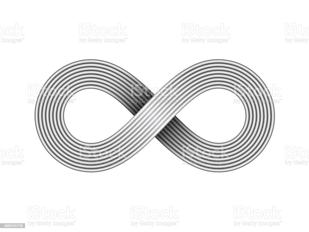 Infinity Sign Made Of Metal Wire Limitless Strip Symbol Vector ...