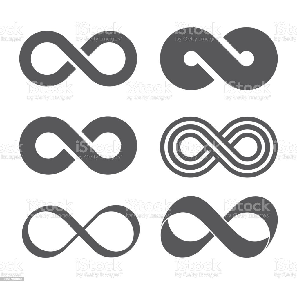 Infinity sign. Mobius strip vector art illustration
