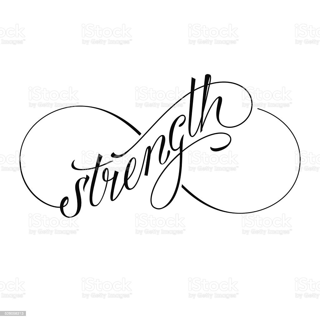 Infinity Strength Stock Vector Art & More Images Of