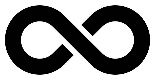 infinity symbol black - simple with discontinuation - isolated - vector infinity symbol black - simple with discontinuation - isolated - vector illustration infinity stock illustrations