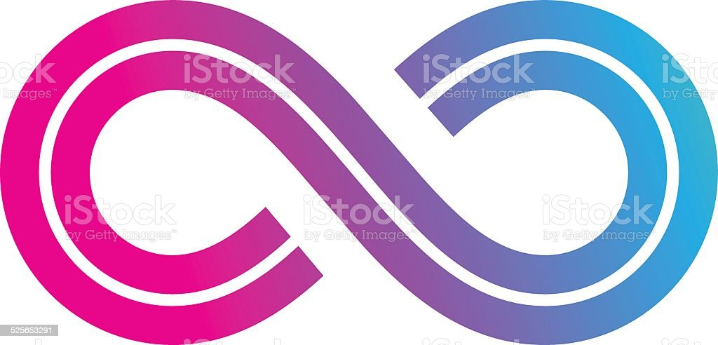 Purple Infinity Symbol Vector Clipart Vector Design