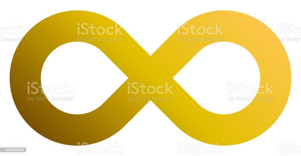 Infinity Symbol Golden Gradient Standard Isolated Vector