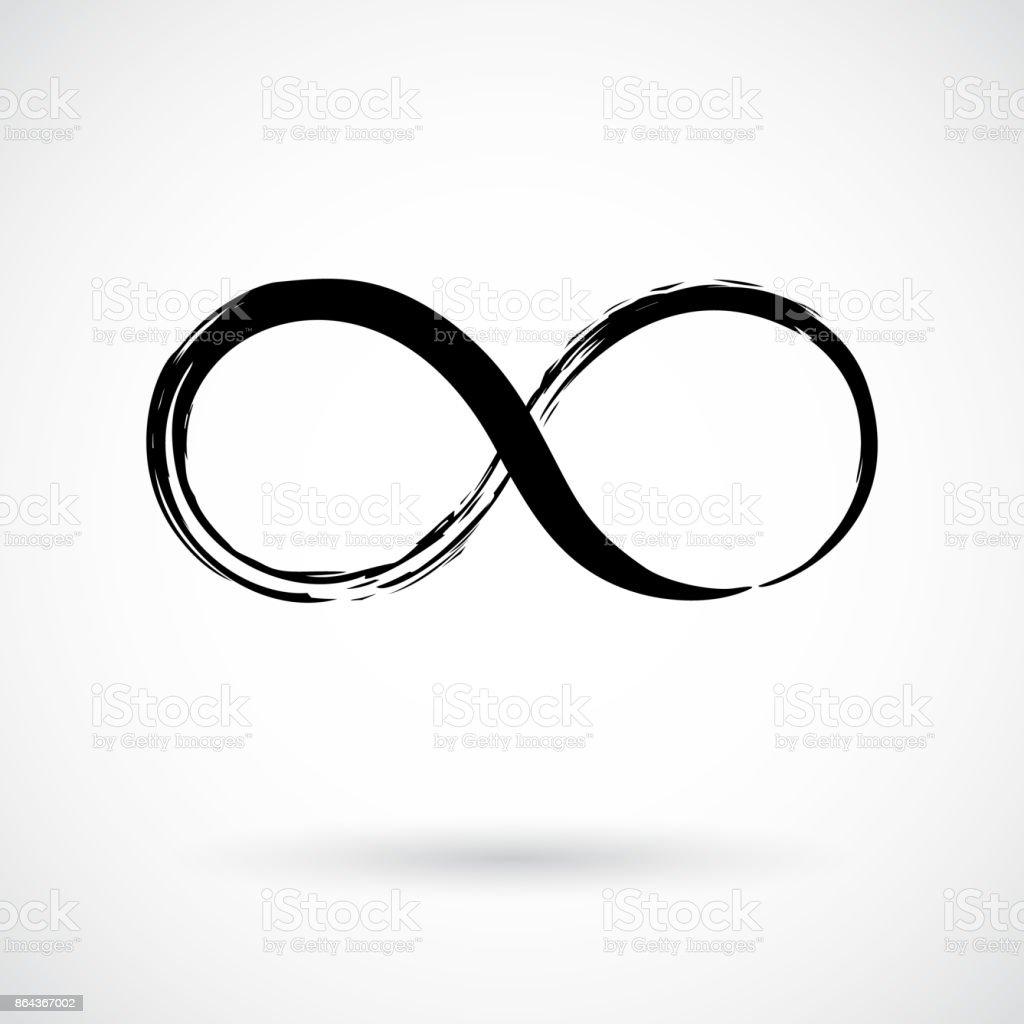 Infinity Symbol Grunge Brush Stroke Stock Vector Art More Images