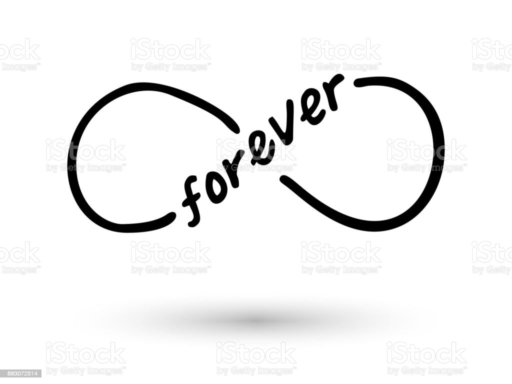Infinity Symbol Hand Drawn With Ink Brush Stock Vector Art More