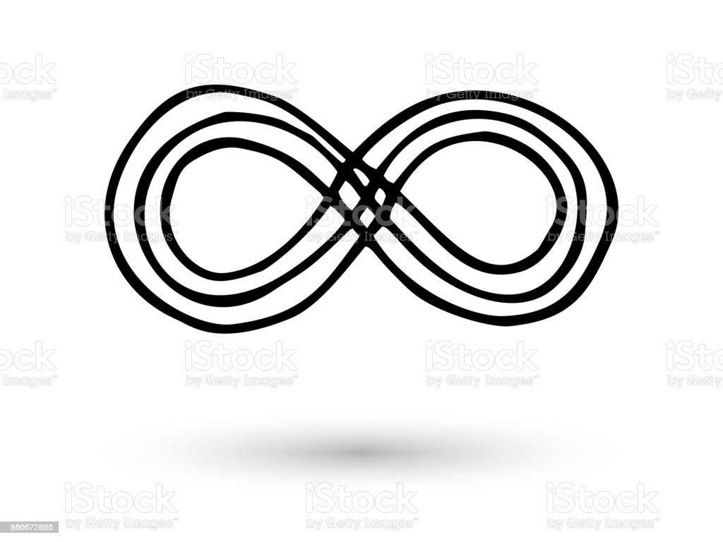 Infinity symbol hand drawn with ink brush stock vector art more infinity symbol hand drawn with ink brush royalty free infinity symbol hand drawn with ink biocorpaavc Gallery