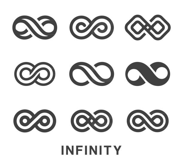 Infinity Symbol Icons Set Vector illustration of the Infinity Symbol Icons Set infinity stock illustrations