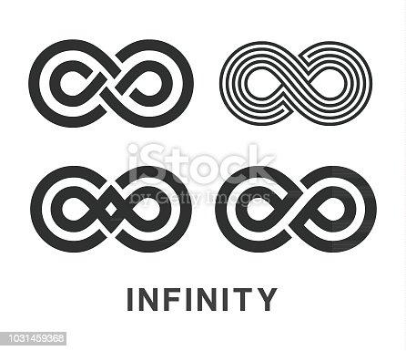 Vector illustration of the infinity symbols