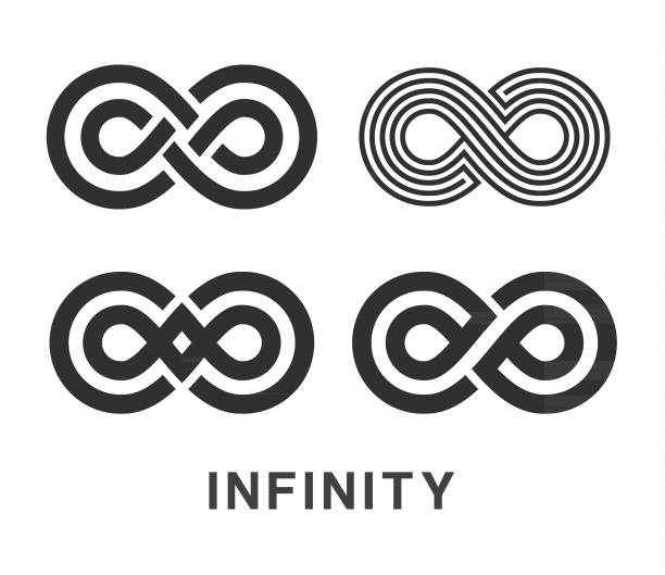 Infinity Symbol Icons Set Vector illustration of the infinity symbols infinity stock illustrations