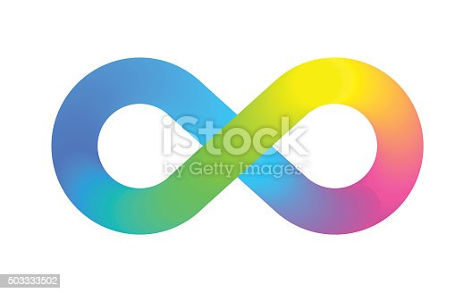 Colourful Vector illustration of infinity symbol for use as corporate identity or logo. EPS10 file best in RGB, CS5 in zip