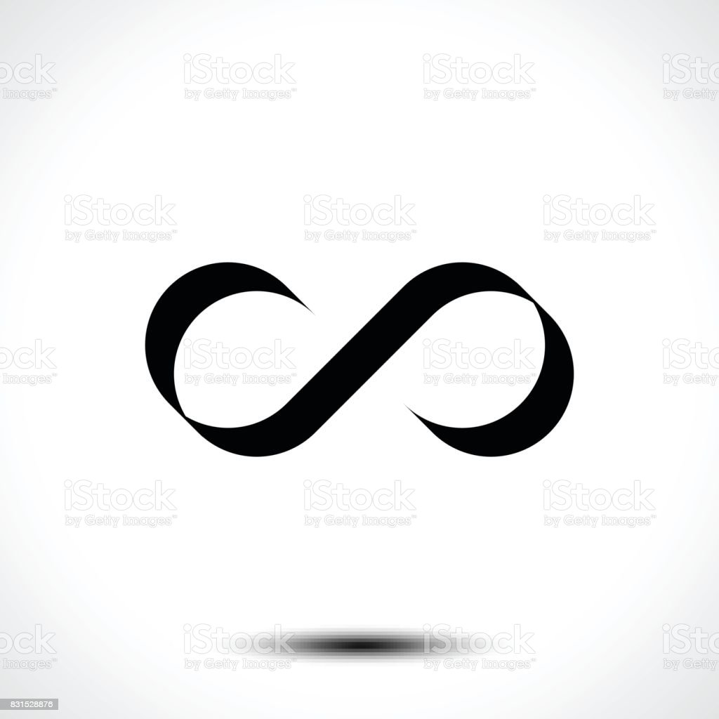 Infinity Symbol Or Icon Design Isolated On White Background Stock