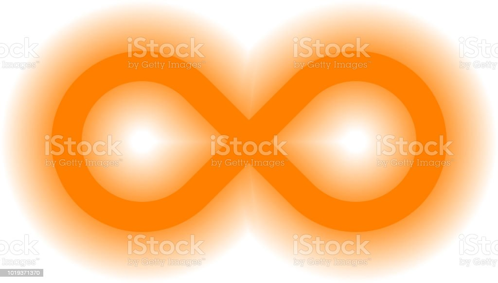 Infinity Symbol Orange Simple Glow With Transparency Eps 10 Isolated