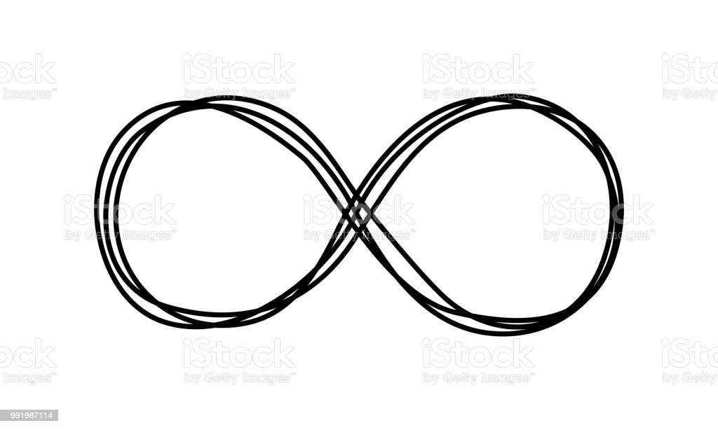 Infinity Symbol Scribble Stock Vector Art More Images Of Black