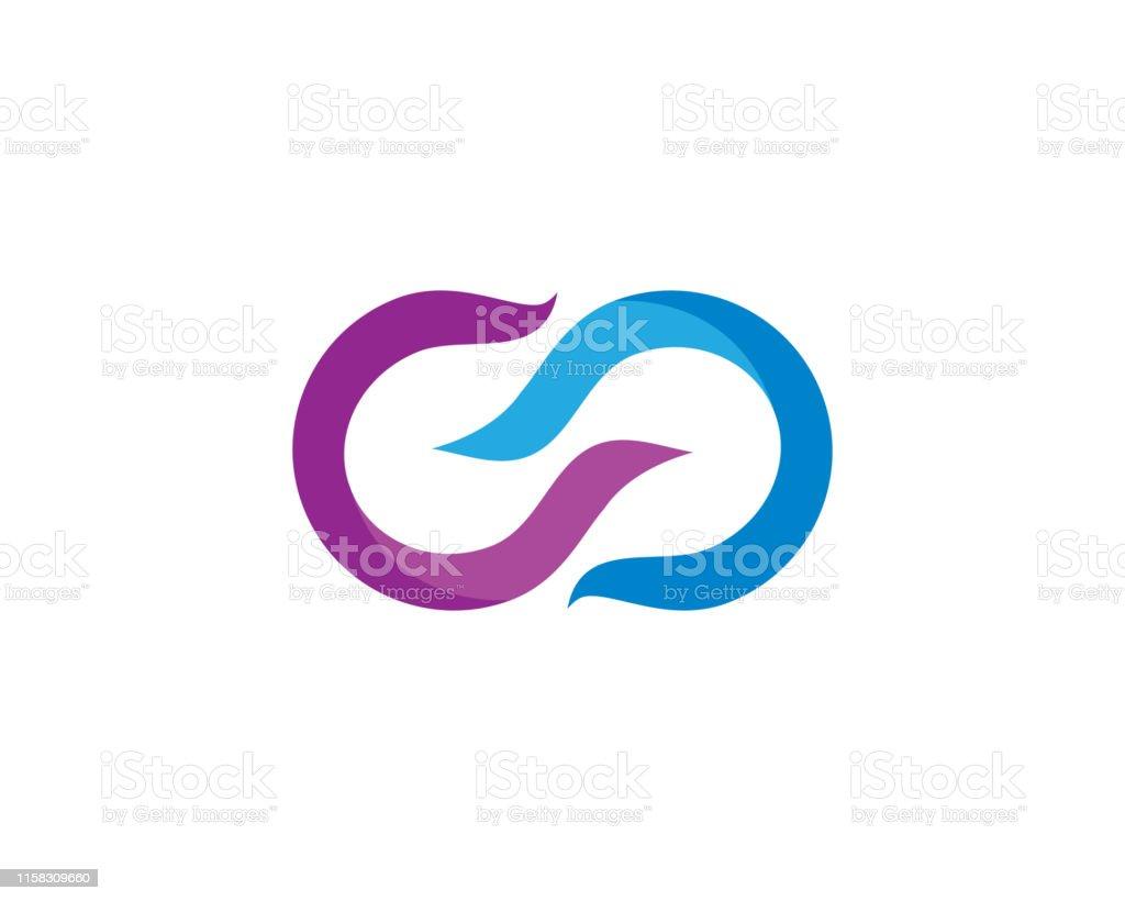 Infinity Symbol Vector Icon Illustration Stock Illustration