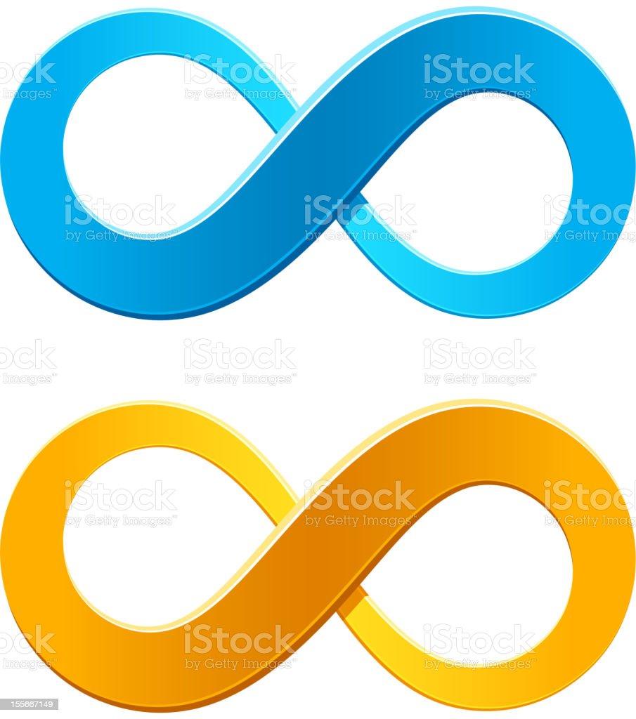 Infinity symbol vector art illustration