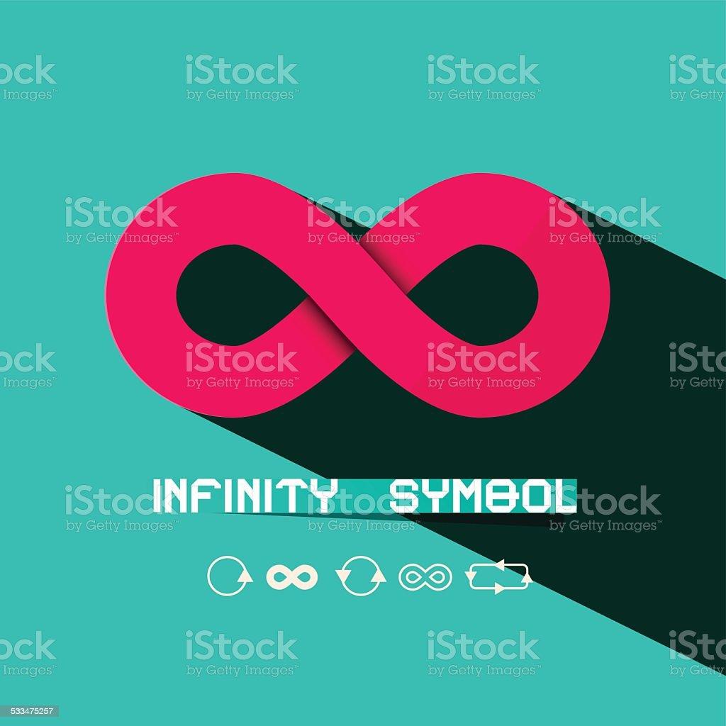 Infinity Symbol - Vector vector art illustration
